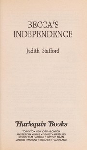 Cover of: Becca's Independence | Stafford