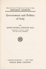 Cover of: Government and politics of Italy