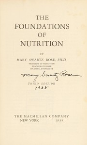 Cover of: The foundations of nutrition