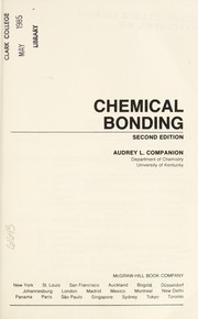 Cover of: Chemical bonding | Audrey L. Companion