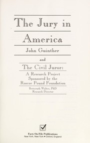 Cover of: The jury in America