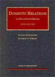 Cover of: Domestic relations