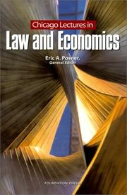 Cover of: Chicago Lectures in Law and Economics