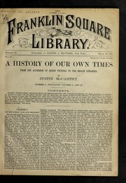 Cover of: A history of our own times from the accession of Queen Victoria to the Berlin congress