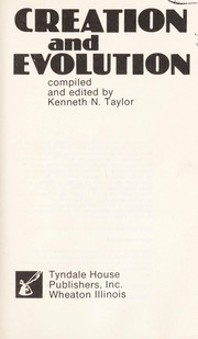 Cover of: Creation and Evolution | Kenneth N. Taylor