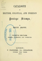 Cover of: Catalogue of British, colonial, and foreign postage stamps | Mount Brown