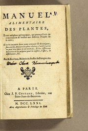 Cover of: Manuel alimentaire des plantes