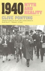 Cover of: 1940 | Clive Ponting
