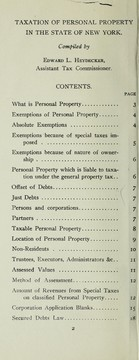 Cover of: Taxation of personal property in the state of New York | New York (N.Y.). Tax Dept.