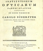 Cover of: Institutionum opticarum partes quatuor