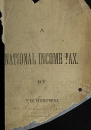 Cover of: A national income tax