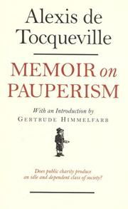 Cover of: Memoir on pauperism