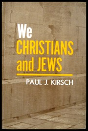 Cover of: We Christians and Jews