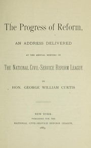 Cover of: The progress of reform