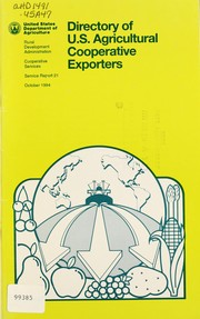 Cover of: Directory of U.S. agricultural cooperative exporters