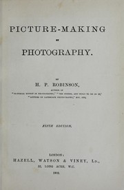 Cover of: Picture-making by photography