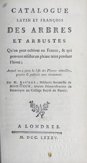 Cover of: Catalogue Latin et Franc ʹois, des arbres et arbustes