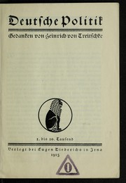 Cover of: Deutsche Politik