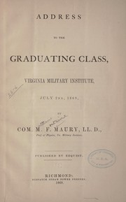 Cover of: Address to the graduating class, Virginia Military Institute, July 2nd, 1869
