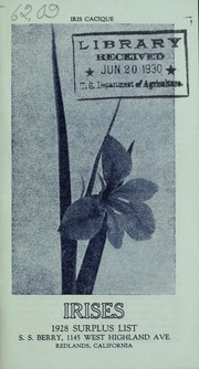 Cover of: Irises, 1928 surplus list | S. S. Berry (Firm)