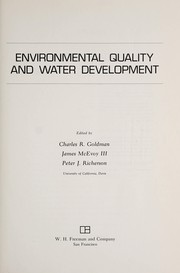 Environmental quality and water development by Charles Remington Goldman