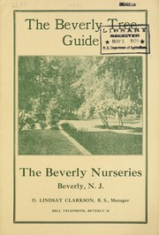 Cover of: The Beverly tree guide | Beverly Nurseries (Beverly, N.J.)