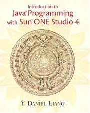 Cover of: Introduction to Java Programming with Sun ONE Studio 4