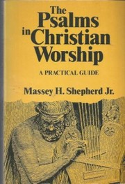Cover of: The Psalms in Christian Worship | Massey Hamilton Shepherd Jr.