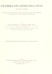 Cover of: Studies on immunisation