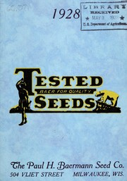 Cover of: 1928 tested seeds
