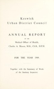 Cover of: [Report 1949] | Keswick (Cumbria, England). Urban District Council