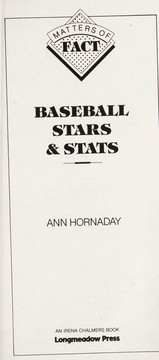 Cover of: Baseball stars & stats