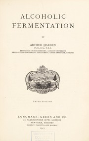 Cover of: Alcoholic fermentation
