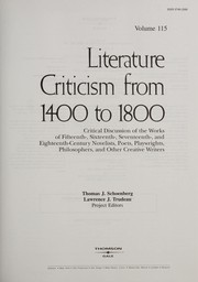 Cover of: Literature Criticism from 1400 to 1800 |