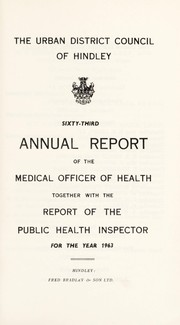 Cover of: [Report 1963] | Hindley (Wigan, England). Local Board