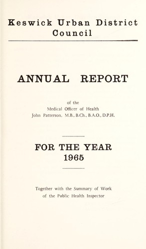 [Report 1965] by Keswick (Cumbria, England). Urban District Council