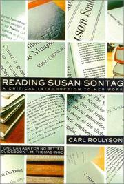Cover of: Reading Susan Sontag | Carl Rollyson