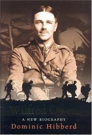 Cover of: Wilfred Owen | Dominic Hibberd