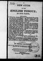 The English Tongue by Thomas Dilworth