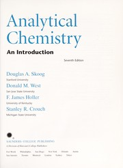 Cover of: Analytical chemistry |