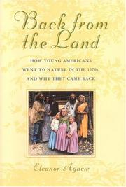 Cover of: Back from the Land | Eleanor Agnew Agnew