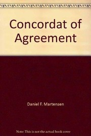 Cover of: Concordat of Agreement |