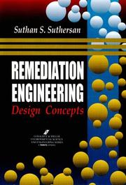 Cover of: Remediation engineering | Suthan S. Suthersan