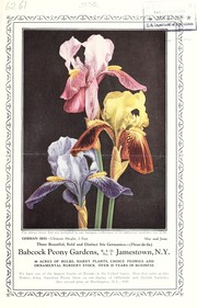 Cover of: Iris for the garden beautiful [bulletin and price list] | Babcock Peony Gardens