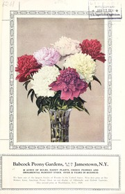 Cover of: Garden beautiful peony collection [bulletin and price list] | Babcock Peony Gardens