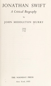Cover of: Jonathan Swift | John Middleton Murry