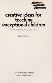 Cover of: Creative ideas for teaching exceptional children