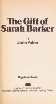 Cover of: The Gift of Sarah Baker |