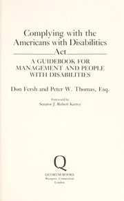 Cover of: Complying with the Americans with Disabilities Act | Don Fersh