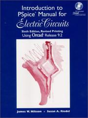 Cover of: Introduction to PSpice manual, Electric circuits, using ORCad release 9.2